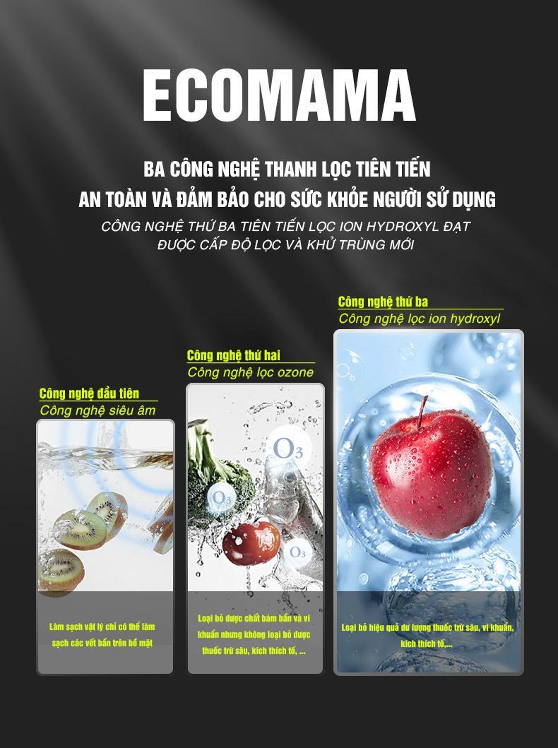 Máy rửa thực phẩm đa năng ECOMAMA